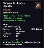 Diz'Kotot stats