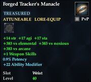 Forged Tracker's Manacle