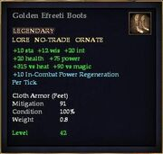 Golden Efreeti Boots