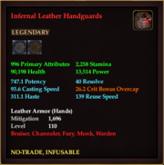 Infernal Leather Handguards