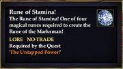 Rune of Stamina!