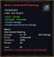 Shen's Ceremonial Flamberge