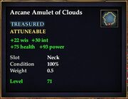 Arcane Amulet of Clouds