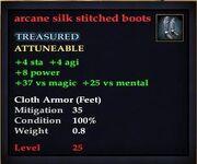 Arcane silk stitched boots