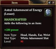 Astral Adornment of Energy (Lesser)