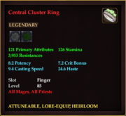 Central Cluster Ring