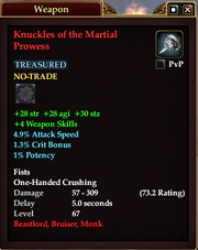 Knuckles of the Martial Prowess