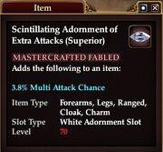 Scintillating Adornment of Extra Attacks (Superior)