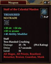Staff of the Celestial Warden