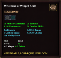 Wristband of Winged Scale