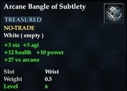 Arcane Bangle of Subtlety