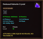 Darkened Kaborite Crystal
