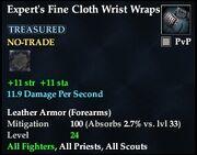 Expert's Fine Cloth Wrist Wraps