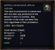 Militia ceremonial officer cuirass