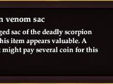 Scorpion venom sac