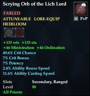Scrying Orb of the Lich Lord