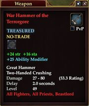 War Hammer of the Terrorgore