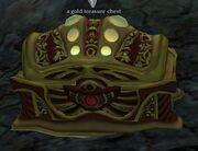 A gold treasure chest