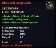 Blackcoat Armguards