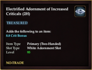 Electrified Adornment of Increased Criticals (2H)