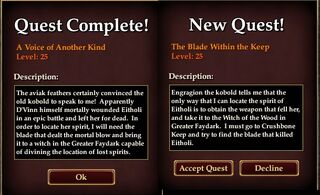 Lore faydwer signature quest