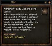 Mercenary- Lady Liae and Lord Valkiss
