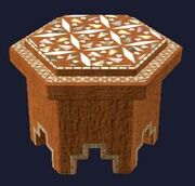 Mother of Pearl Inlaid End Table (Visible)
