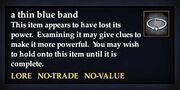 A thin blue band