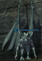 An obsidian gargoyle