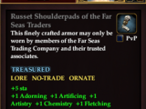 Russet Shoulderpads of the Far Seas Traders