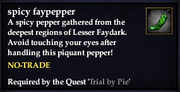 Spicy faypepper