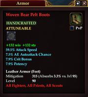 Woven Bear Pelt Boots