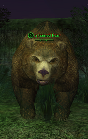 A trained bear (Outpost of the Overlord)