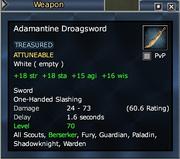 Adamantine Droagsword