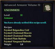 Advanced Armorer Volume 32