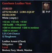 Gorehorn Leather Vest