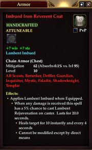 Imbued Iron Reverent Coat