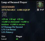 Loop of Focused Prayer (Level 60)
