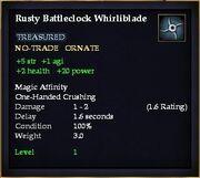 Rusty Battleclock Whirliblade