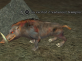 An excited dreadsnout trampler