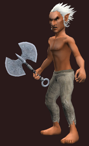 Axe of Kejekan Hero (Equipped)
