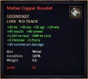 Molten Copper Bracelet