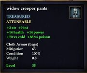 Widow creeper pants