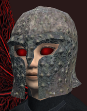 A pitted helm (Equipped)