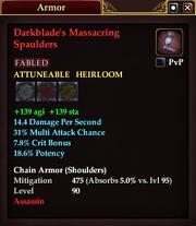 Darkblade's Massacring Spaulders