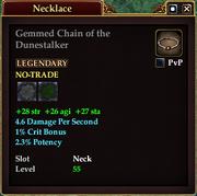 Gemmed Chain of the Dunestalker