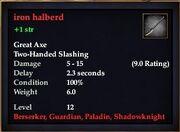 Iron halberd