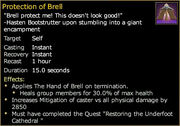 Protection of brell