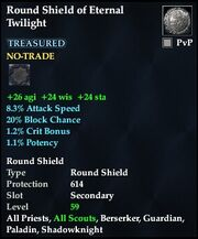 Round Shield of Eternal Twilight