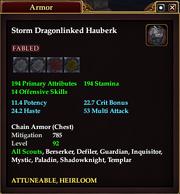 Storm Dragonlinked Hauberk